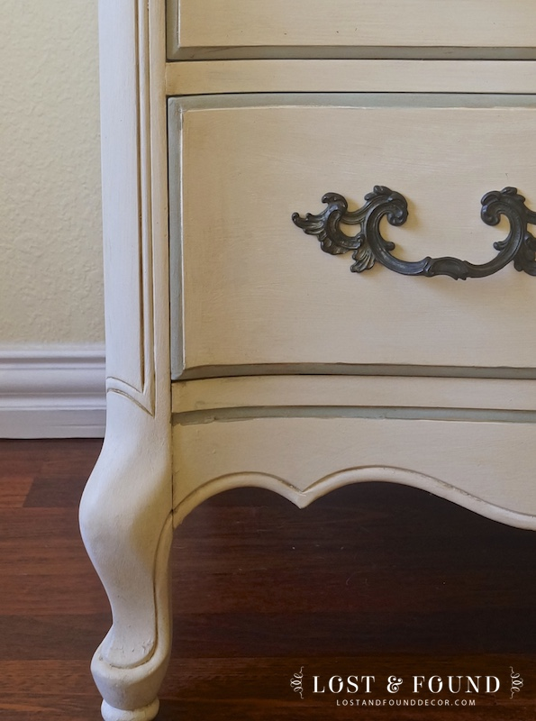 French Provincial Chest Furniture Makeover
